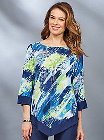 Royal Street Brushstroke Top By Alfred Dunner®