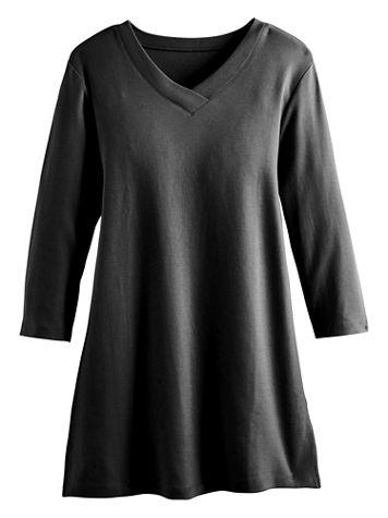 Any Day V-Neck Three-Quarter Sleeve Knit Tunic - Image 4 of 6