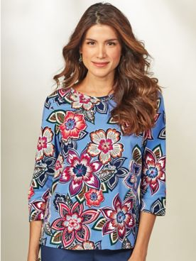 Classic Print Tee By Alfred Dunner®