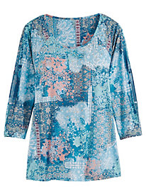 Taylor Patchwork Top by Gloria Vanderbilt®