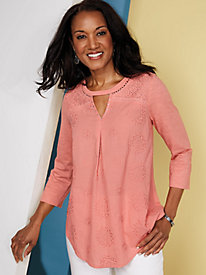 Blakely Lace Knit Top by Gloria Vanderbilt®