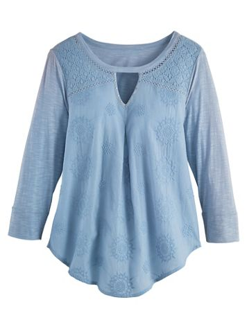 Blakely Lace Knit Top by Gloria Vanderbilt® - Image 0 of 2
