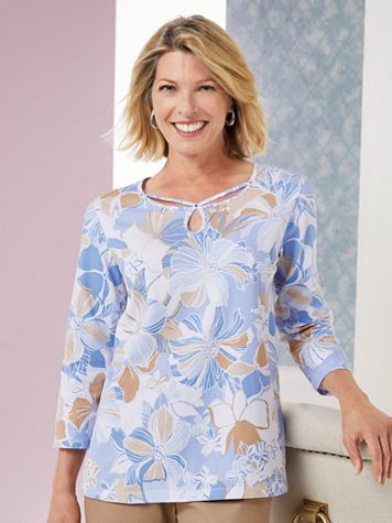 Alfred Dunner® Turtle Cove Floral Top