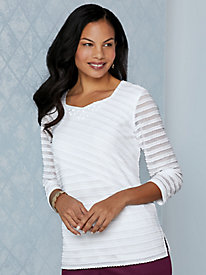 Alfred Dunner® Palm Coast Stripe Top