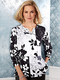 Alfred Dunner® Grand Boulevard Patchwork Top