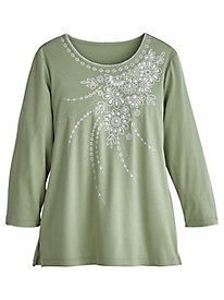 Alfred Dunner® Greenwich Hills Embroidered Top