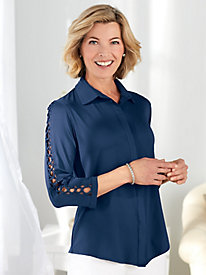 Koret® Lace-Up Sleeve Shirt by Old Pueblo Traders
