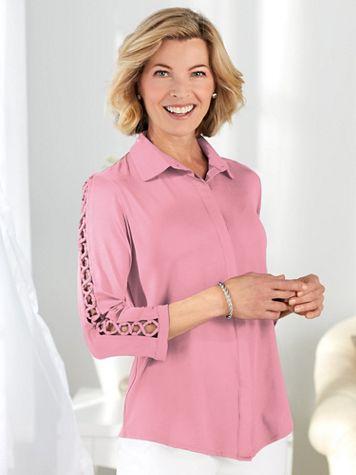 Koret® Lace-Up Sleeve Shirt - Image 0 of 1