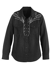 Rhinestone Denim Shirt