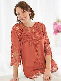 Medallion Lace Top By Koret®