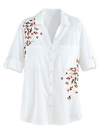 Embroidered Shirt By Gloria Vanderbilt®