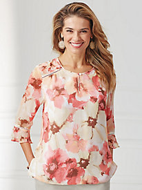 La Dolce Vita Floral Woven Top By Alfred Dunner®