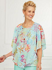 Overlay Top By Alfred Dunner®