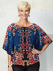 Velvet Crush Printed Butterfly Top by Ruby Rd.