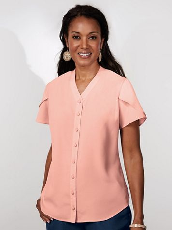 Koret® Tulip Sleeve Blouse - Image 1 of 6