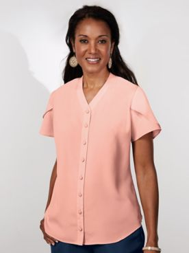 Koret® Tulip Sleeve Blouse