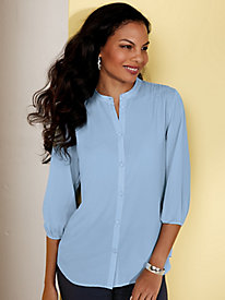 Koret® Button-Down Pleated Blouse