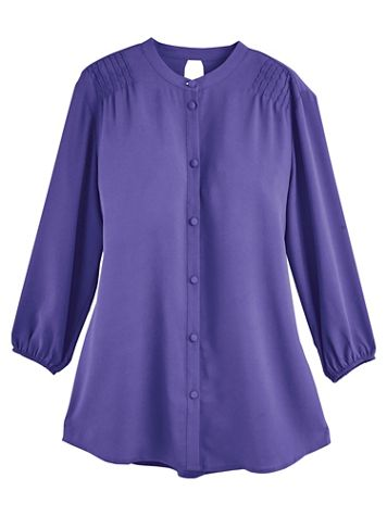 Koret® Button-Down Pleated Blouse - Image 0 of 1