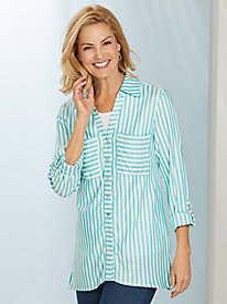 Ruby Rd. Coastal Stripe Blouse