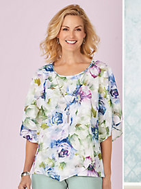 Alfred Dunner® Southampton 2-in-1 Top