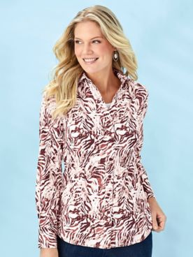 Koret® Button-Front Stretch Shirt