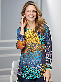 Koret® Abstract Geo Blouse