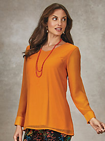 Koret® Georgette Layered Tunic