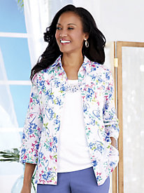 Alfred Dunner® The Summer Wind Floral 2-in-1 Top