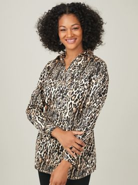 Koret® Button-Front Stretch Tunic