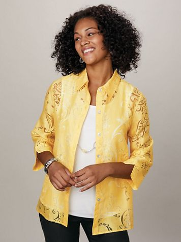 Alfred Dunner® Riverside Drive Burnout 2-in-1 Top