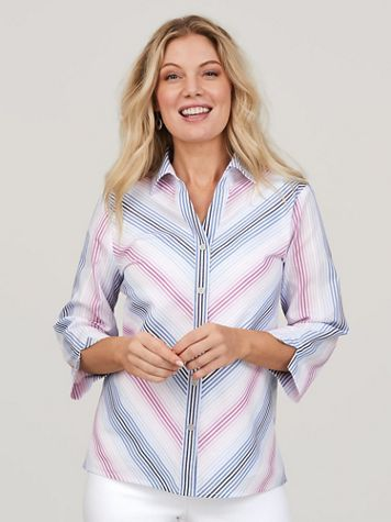 Alfred Dunner® Petal Pushers Mitered Ombré Top