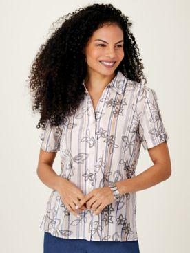 Alfred Dunner® Woven Camp Shirt