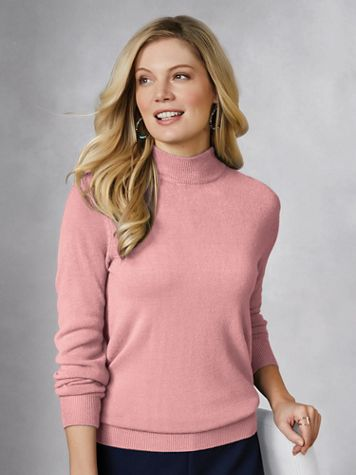 Soft Cashmere-Like Mockneck Sweater - Image 0 of 4