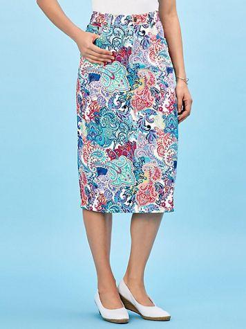 Koret® Stretch Jean Skirt - Image 1 of 10