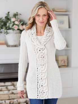 Scroll Cardigan Sweater