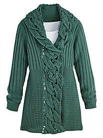 Scroll Cardigan Sweater