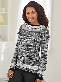 Fringed Sweater By Koret®