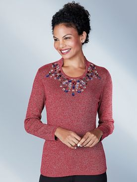 Koret® Beaded Heirloom Sweater