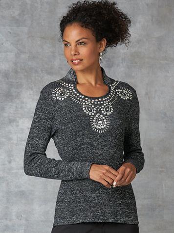 Koret® Beaded Heirloom Sweater - Image 0 of 5