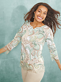 Winter Garden Fringe Sweater By Alfred Dunner®