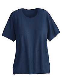 Alfred Dunner® Classic Short Sleeve Sweater Shell