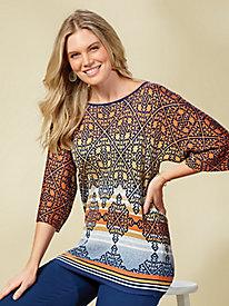 Desert Drifter Jacquard Sweater by Ruby Rd.