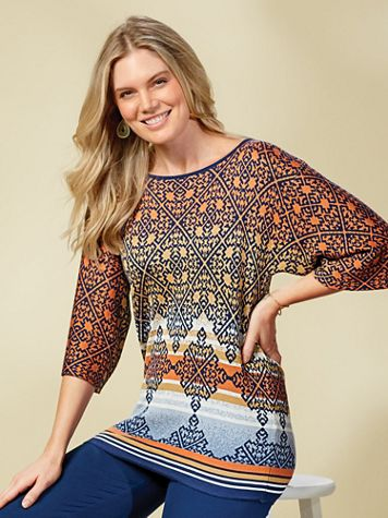 Desert Drifter Jacquard Sweater by Ruby Rd. - Image 2 of 2