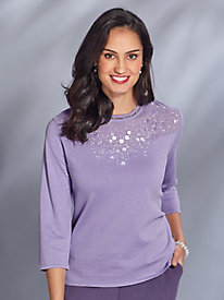 Beaded Yoke Sweater By Alfred Dunner®