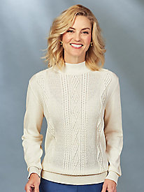 Classic Mockneck Sweater By Alfred Dunner®