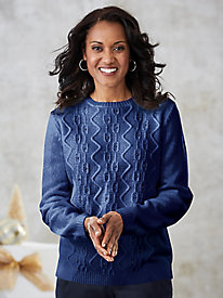 Alfred Dunner® Embellished Chenille Pullover