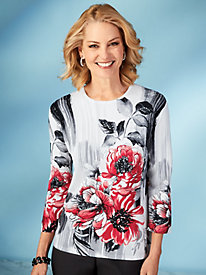 Alfred Dunner® Sutton Place Floral Sweater