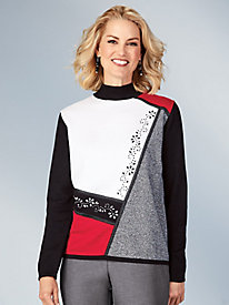 Alfred Dunner® Sutton Place Colorblock Sweater