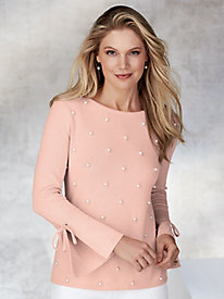 Frankfurt Pearl Front Sweater by Emaline