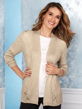 Koret® Pointelle Cardigan